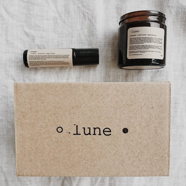 Lune Gift Box - Relax Roll On & Candle